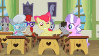 Apple Bloom with a huge smile S2E12