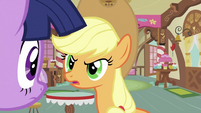 Applejack looking at Twilight S2E23