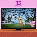 Applejack looking at the vampire fruit bats promotional S4E07.png
