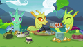Changelings having a potluck lunch S7E17.png