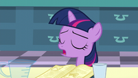 Filly Twilight -and I'm sure it said sodium chloride first- S5E12