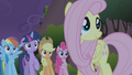 Fluttershy looking kindly at Manticore S01E02.png