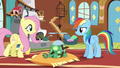 Fluttershy walks towards Rainbow Dash S5E5.png