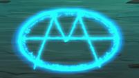 Magic insignia glowing bright S9E1
