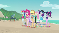 Mane Six and Spike watch Sunset leave EGFF.png