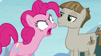 Pinkie Pie angrily calling Mudbriar wrong S8E3