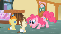 Pinkie Pie blows a raspberry S2E13