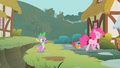 Pinkie Pie trotting away from the ditch S1E15.png