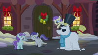 Princess Erroria throws a snowball at Tornado Bolt S06E08