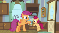 Scootaloo successfully grabs the candy S9E22