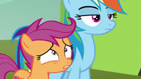 Scootaloo worried there aren't any seats S8E20