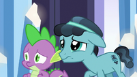 Spike and Crystal Hoof nervous again S6E16