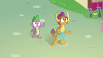 Spike and Smolder see fireball approaching S8E24