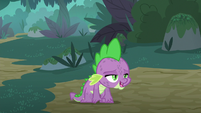 Spike sighing with great relief S8E11