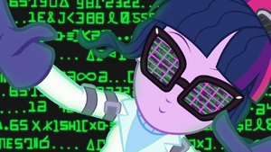 Twilight Sparkle in a computer matrix SS5