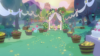 Wedding ceremony at Sweet Apple Acres S7E13