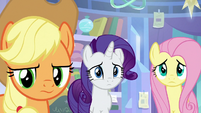 AJ, Rarity, and Fluttershy also scared S9E25
