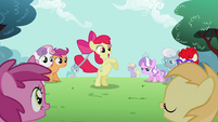 Apple Bloom has the hoop in her tail S2E06
