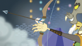 Captain Wuzz fires an arrow at Squizard S6E17.png