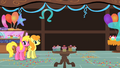 Cherry Berry and Golden Harvest watching Pinkie Pie S01E22.png
