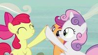 Cutie Mark Crusaders high-hoof S7E8