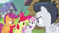 Cutie Mark Crusaders look at each other worried S7E21.png