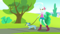 Lyra Heartstrings walks a dog through the park SS14.png
