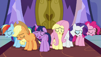 Mane Six sighing with defeat S7E14