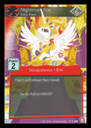 Nightmare Star, Solar Flare card MLP CCG