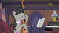 Octavia Melody practicing the cello S5E9