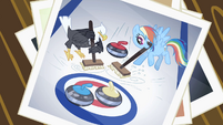 Picture of Rainbow Dash and the eagle having a curling match S2E07