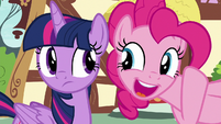 "Pinkie Pie ""nice save, Twilight!"" S8E20"