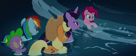 Pinkie Pie getting pulled into a whirlpool MLPTM