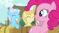 Pinkie Pie sad fillies in cart S2E18.png