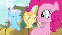 Pinkie Pie sad fillies in cart S2E18