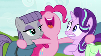 Pinkie Pie squealing with excitement S7E4
