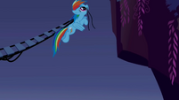 Rainbow Dash connecting the bridge S1E02