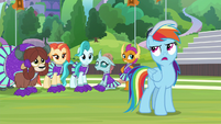 Rainbow rolls her eyes at Twilight S9E15