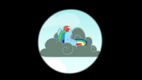 Rainbow seen on a thundercloud S4E21