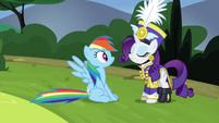 Rainbow stops and notices Rarity S4E21