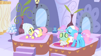 Rarity and Fluttershy getting a horn filing S1E20