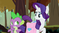 Rarity getting annoyed by Spike's behavior S8E11