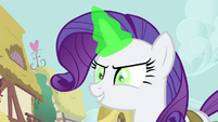 Rarity using magic on Spike S4E23