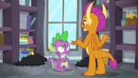 Smolder explaining the molt S8E11