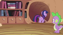Spike looking at Twilight Sparkle leaving S2E03
