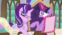 Starlight yells to get Twilight's attention S9E1
