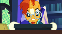 Sunburst looks nostalgic at the board game S7E24