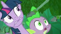 Twilight and Spike hear Zecora S5E26
