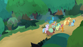 AJ, Dash, and their students enter the woods S8E9.png