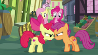Apple Bloom and Scootaloo angry nose-to-nose S8E12